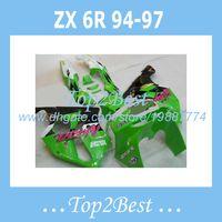 Wholesale Kawasaki Zx6r Fairings 94 - 100% new Fairings For KAWASAKI NINJA ZX6R 1994-1997 1995 1996 ZX 6R 1994-1997 ZX6R 94-97 fairing kits #f29k8 green