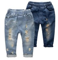 Wholesale Boys Jeans 14 - Fashion Denim Pants Boys Ripped Jeans 2-14 Yrs Baby Boys Jeans Kids Clothes Cotton Casual Children's Jeans Kids Trousers