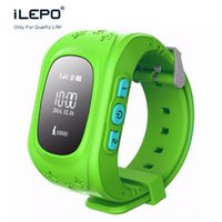Wholesale Gps Gsm Gprs Watch - Q50 Smart Phone GPS Watch Kids OLED GSM GPRS Locator Tracker Anti-Lost Kids gps Watch for iOS Android cellphone