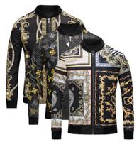 Wholesale Panel Patterns - 2018 Spring Autumn Winter of long sleeve bomber print jacket Men Casual windbreaker jackets printing Medusa silk jacket