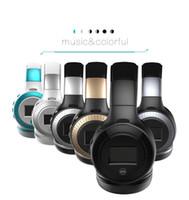 Wholesale Headset Radio For Iphone - B19 LCD Display HiFi bass Wireless Bluetooth Headphone for iPhone 7 samung xiaomi earphone With FM Radio Micro-SD Slot 2017 new