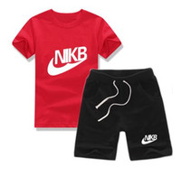 Wholesale 2017 summer Brand kids clothes set boys sport suit children short sleeve T shirt shorts pant girls clothing jogging tracksuit
