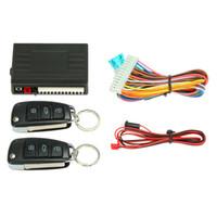 araba alarmı uzaktan kumandaları toptan satış-Evrensel Araba alarm sistemi uzaktan kumanda Araba Merkezi Kilitleme Anahtarsız sistem ile Peugeot 307 VW Toyota için Gövde Açma Düğmesi