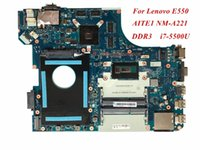 Wholesale Ddr3 Cpu - High Quality Laptop Motherboard Compatible For Lenovo E550 AITE1 NM-A221 i7-5500U CPU DDR3 100% Tested&Testing Video Support