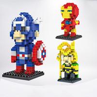 Wholesale Men Intelligence - Kids Building Toys Super Heroes The Avengers 3D Diamond Blocks 5pcs Learning & Educational Blocks Captain America Iron Man for Intelligence