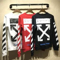 Wholesale Woman Clothes Classic - New Arrivals OFF WHITE Mens Hoodies Men And Women Hoodies Causal Hip Hop Long Sleeve Classic Stripe Printing Sweatshirts Men's Clothing