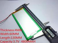 batterie lithium ion polymère 3.7v achat en gros de-1pcs 3.7V 4800mAH (batterie lithium-ion polymère) batterie Li-ion pour tablette pc 7 pouces 8 pouces 9 pouces 4060130 livraison gratuite