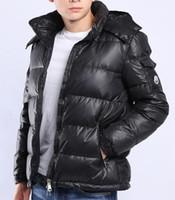 Wholesale Winter Mens Fashion Dress Coats - Wholesale Men Casual Down Jacket MAYA Down Coats Mens Outdoor Fur Collar Warm Feather dress Winter Coat outwear outer wear JACKETS