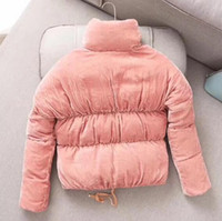 Wholesale Thin White Ribbon - 2017winter women down jacket France M winter coat Female Clothes Real velvet thick warm outwear