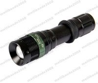 Wholesale Ourdoor Led Light - NEW LED Flashlight 3000 Lumens Waterproof Zoomable XML Q5 Lamp Light Torch By 18650 Rechargeable Battery FOR ourdoor MYY