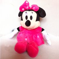 baby mickey mouse stuffed animal achat en gros de-Grossiste-1pc Nouveau Hot 30cm Lovely Mickey Mouse et Minnie Animal Stuffed filles poupée jouets en peluche pour les enfants jouets pour bébés (3 couleurs)