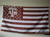 Wholesale Texas Flags Banners - Texas A&M Aggies Flag 90 x 150 cm Polyester NCAA Stars And Stripes Banner