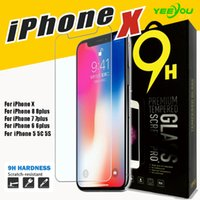 Wholesale Tinted Mirrors - For iPhone X 8 7S 7Plus 6S Tempered Glass Screen Protector Film 0.33mm 2.5D 9H Anti-shatter with retail package