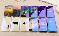Wholesale Iphone C Back Covers - Luxury Blu-ray Clear TPU Case For IPhone 6 6S 7 7plus Blue Light Ultra Thin Cartoon Cat Sunset Soft TPU Back Cover For i Phone 6 plus Back C