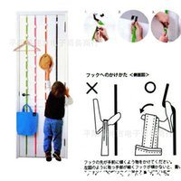 Wholesale Pothook Bag - Upon Hook After Hanging Rope Pothooks Adjustable Height Vertical Storage Tape Nail Free Pothook Bag Hooks For Doors 3 5cj R