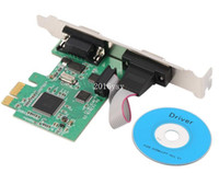 Wholesale Pci Serial Card Ports - PCI-E PCI Express to 2 port Serial DB9 RS232 Port Controller Adapter Card Add on card