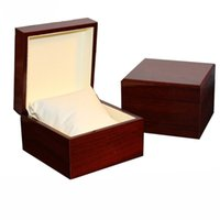 Wholesale gift case packaging box for sale - Fashion watch box luxury wood watch box with pillow package case watch gift box