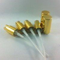 Wholesale 15ml Bottle Spray - Wholesale- shiny gold aluminum lotion pump & spray pump cap,could match with 5ml\10ml\15ml\20ml30ml50ml\100ml lotion bottle or cream bottle