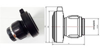 Wholesale camera lens resolution resale online - mm HD endoscope camera adapter endoscope optical coupler CCD HD lens X1024 resolution pixels