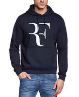 Wholesale male tracksuits - Wholesale- 2017 men roger federer harajuku hoodies autumn winter hipster fitness sweatshirts male fleece hip-hop brand tracksuits hooded