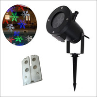 Wholesale outdoor laser projector christmas lights online - RGBW designs Auto Moving Colorful design Christmas Holiday Lights Outdoor Waterproof Projection Lights LED laser lighting projector