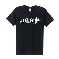 Wholesale Evolution Men - Motorbike Evolution Motorcycle T Shirt Funny Printed Ape Evolution T Shirts Men Short Sleeve O-Neck Cotton Men Tops OT-084