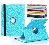 Magnetic 360 Rotating Grape Flower Flip PU capa de couro elegante para iPad 2 3 4 5 6 Air Air2 Mini iPad6 iPad5 iPad4