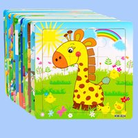 Wholesale Baby Jigsaw Puzzles - Baby Wooden Puzzles Educational Toys Early education Jigsaw toy Puzzle toy for children gifts 12pcs lot