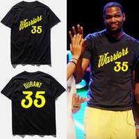 80802438a Fashion brand clothing t shirt men KD No.35 kevin durant basketball jersey  blue short sleeves combed t-shirts ...