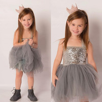 Wholesale Jersey Knee Length Dresses Wholesale - Baby Teen Little Girl Lace Dress Kids Boutique Clothes Party Toddler Dresses Birthday Princess Formal Sundress Sleeveless Jersey Tutu Gowns