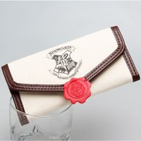 Wholesale Cheap Notes - Harry Potter Hogwarts Letter Flap Wallet Cheap wallets High Quality wallet with Interior Compartment Zipper Poucht