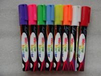 Wholesale Mini Chalk Boards - Wholesale- 8 Colors 6mm Highlighter Liquid Chalk Pen Erasable Non-toxic for LED Writing Board Chalkboard Sticker