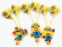 Wholesale Despicable Earphones - MOONBIFFY New fashion high quality lovely Despicable Cartoon Minions noise isolating sport earphone fone de ouvido