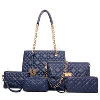 Wholesale Designer Branded Hand Bags - luxury brand women handbags new arriva 6 pcs women set hand bag high quality fishion designer tote handbag and purse