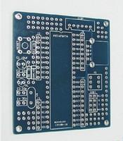 Wholesale Bare Pcb - Free shipping 10pcs microcontroller PIC16F877A development Minimum System DIY PCB bare board