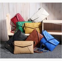 Wholesale Cheap Small Envelopes - Hot Selling Women's Envelope Bags Summer Street Out Small Shoulder Bags Cheap Good Quality PU Bags Cross Body Free Shipping