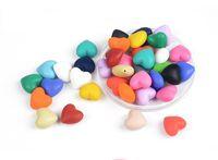 encanto del corazón de silicona al por mayor-100 unids / lote Hot Heart Shape Loose Silicone Beads Charms For Dentición Collar de Silicona Perlas Sueltas Para Bebé Mordedor BPA Safe DIY Bead