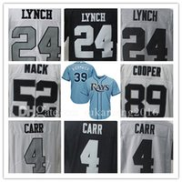 Wholesale Logo Cooper - Marshawn Derek Lynch Carr Jersey Baseball 4 24 Khalil Amari Mack Cooper 52 89 kiermaier 39 Embroidery Logos and Stitched Jerseys MLB