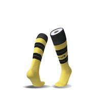 Wholesale Thick Soled Socks - Home Away kids socks 2017 18 Sport Football Soccer Long Socks Over Knee High Sock Boys team FC thick Soles children