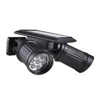 регулируемая яркая лампа оптовых-Wholesale- Super Bright 14 LEDs Spotlight Solar Powered Wireless PIR Motion Sensor Wall Light Adjustable Dual Heads LED Security Night Lamp