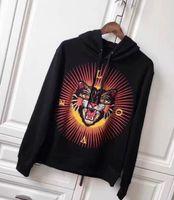 o leopardo imprime hoodies venda por atacado-Fábrica NOVA Moda Masculina Leopard Cat Impressão Hoodies Marca Lazer Moletom Com Capuz Camisolas Casuais Casacos Com Capuz Mulheres Casaco Com Capuz Preto