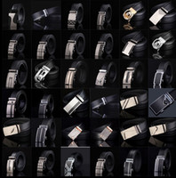 negócios automáticos venda por atacado-Cinto de couro dos homens Moda cinta fivela automática para o Luxo de Negócios casual s Cinto Cintura Cintura Cinto 77 estilos KKA1361