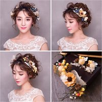 Wholesale Hair Ponytail Holders Jewelry - Woman headdress hair Lomen bride headdress Sen female fresh berry comb hair jewelry wedding wedding accessories plant 6210616