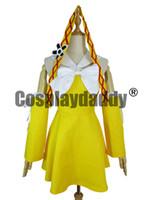 xxl peri kostümleri toptan satış-Fairy Tail Anime Cosplay Kostüm gelen HOLRAN Levy McGarden çünkü