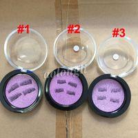 Wholesale Magnet Pair - NEW False Eyelashes 3D magic reusable magnetic eyelashes 3D Mink makeup magnet false eye lashes 4pcs=1 pair Perfect for everyday