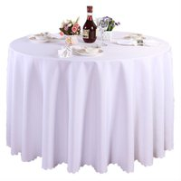 Wholesale High Quality pieces inch white polyester round tablecloth linen banquet table linen wedding decoration DHL Free