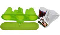 moldes de ceramica al por mayor-Taza de cerámica de la taza de la taza de la taza de la taza de la nueva de la sublimación de alta calidad de la sublimación de la abrazadera para la máquina del vacío 3D, molde verde