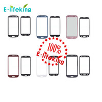 Wholesale S3 Red Screen - New For SAMSUNG Galaxy S3 SIII I9300 No Touch Digitizer front outer screen glass lens white black red blue pink Free Shipping