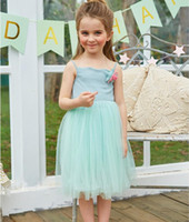 Hot Sale Summer Baby Clothes New Girls Dress Sling Vest Beach Dress Crianças Roupa de verão Girls TuTu Dress