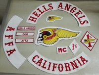Wholesale Embroidered Iron - Hells Angels Patch Embroidered Patches Jacket iron patches 13pcs Lot Anarchy T Shirt Patch Stickers